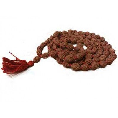 Natural 4 - Mukhi Rudraksha Rosary / Mala With Certificate - (MARUJ04-001)- (JAVA)