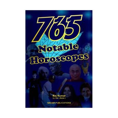 765 Notable Horoscopes by Raj Kumar (BOAS-0410)