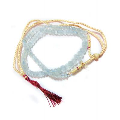Aquamarine Quartz Mala / Rosary (MAAQ-001)