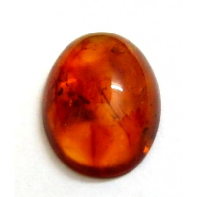 Natural Amber Gemstone Oval Cabochon 2.95 Carat (AR-02)