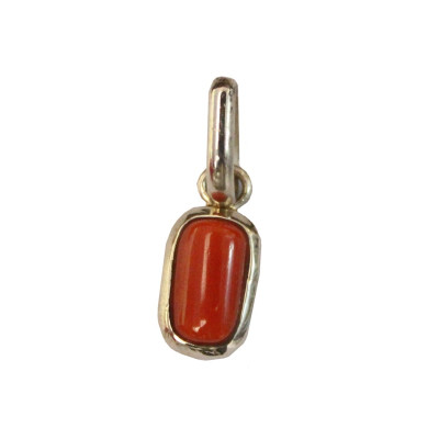 Red Coral Pendant - (RCP-006)