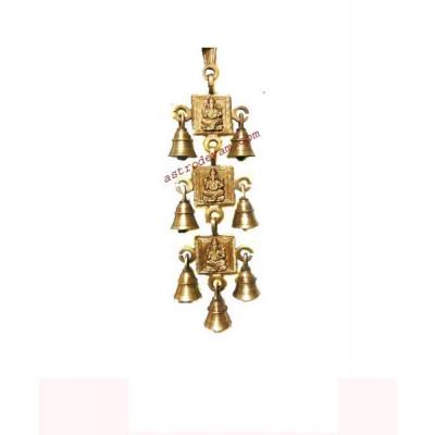 Auspicious Hanging Ganesha / Ganpati with Brass Bells - 600 gm (DIBHG-002)