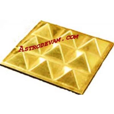 Brass Pyramid Plate - 8 cm (PYBRP-001)