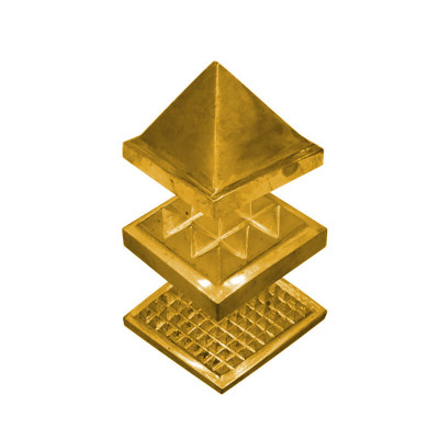 Brass 91 Pyramid - 6.5 cm (PYBR-003)