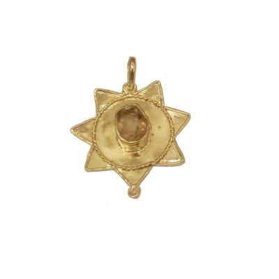 Citrine/ Sunela Star Shaped Pendant (PECS-001)