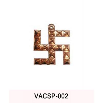 Copper Swastik Pyramid - 400 gm (VACSP-002)