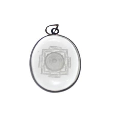 Crystal Shree Yantra Pendant / Locket (PECSH-001)