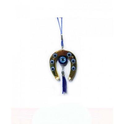 Evil Eye Horseshoe Hanging - 20 cm (VAEE-001)