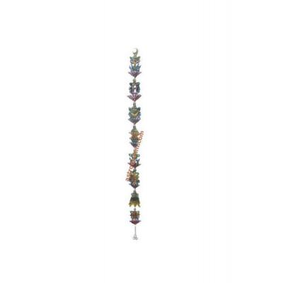 Eight Auspicious Colorful Symbols Hanging vertically - 47 cm (FEEAS-007)