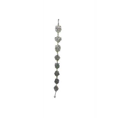 Eight Auspicious Symbols Silver Finish Hanging Vertically - 75 cm (FEEAS-006)