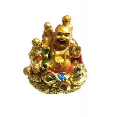 Laughing Buddha with Children's - 7 cm (FELB-006)