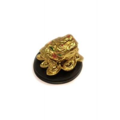 Three legged toad / Frog (Golden) - 6 cm (FELTO-004)