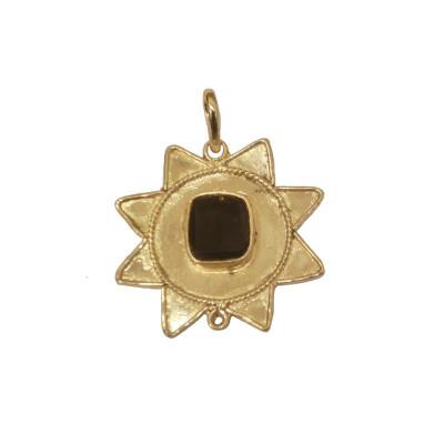 Hessonite/ Gomed Star Shaped Pendant (PEHE-001)
