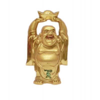 Standing Laughing Buddha with Gold Ingots -12 cm (FELB-007)