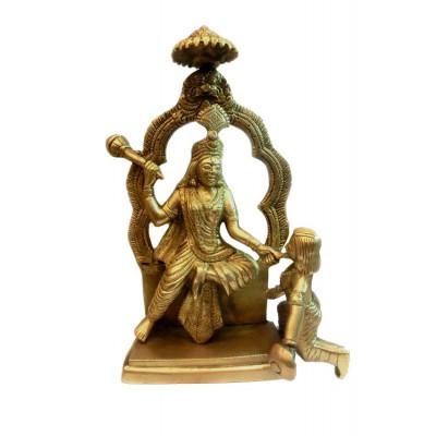 Maa Baglamukhi Idol in Brass (DIMB-001)