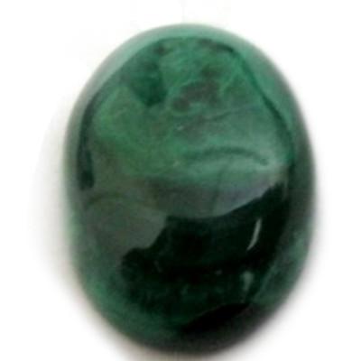 Natural Malachite / Kidney (Dana Firang) Oval Cabochon Gemstone- 8.75 Carat (MC-04)