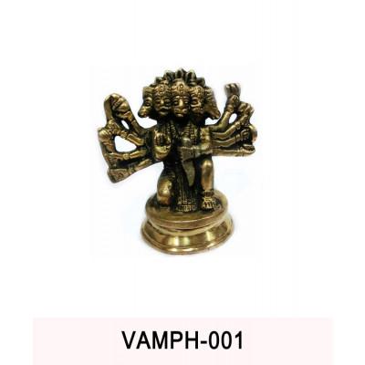 Metallic Panchmukhi (Five Face) Hanuman - 375 gm