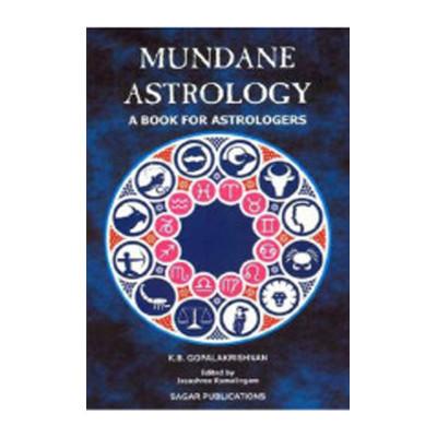 Mundane Astrology by  K.B. Gopala Krishnan (BOAS-0082)