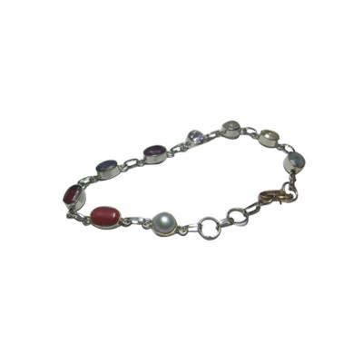 Navratna Bracelet in Silver (BRNG-001)