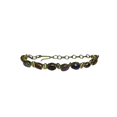 Navratna Bracelet in Yellow Metal (BRNG-002)