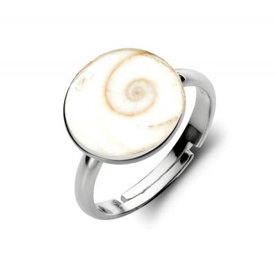 Gomati / Gomti Chakra Ring in Silver- (GCR-001)