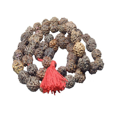 3 Mukhi Rudraksha Rosary / Mala With Certificate (Nepali)- (MARU03-003)