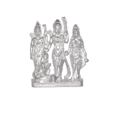 Parad Ram Lakshman Sita Hanuman Idols (Ram Darbar) - 100 gm (PARD-001)