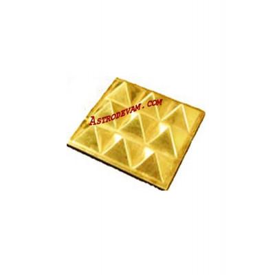 Brass Pyramid Plate - 10 cm (PYBRP-002)