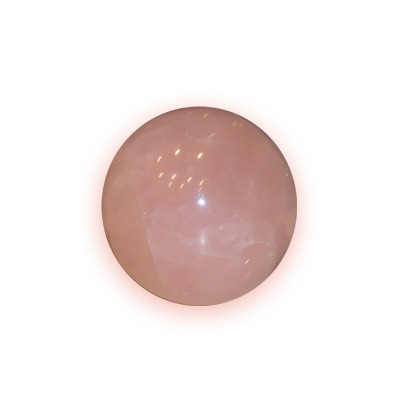 Crystal Ball Rose Quartz - 4.6  cm (FECB-012)