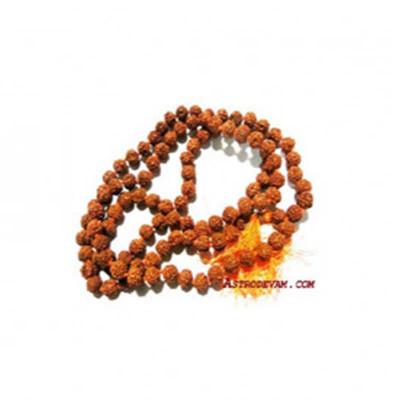 5 Mukhi Rudraksha Rosary / Mala - 05 mm (MARU-003)- (INDIA)