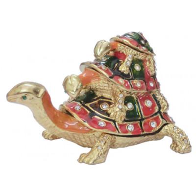 Bejeweled Triple Tortoise - 8 cm (FETO-001)