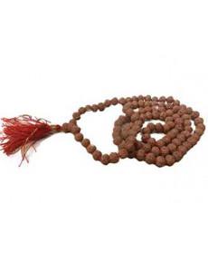 Natural 6 - Mukhi Rudraksha Rosary / Mala With Certificate (Java)- (MARUJ06-001)