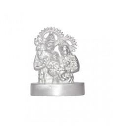 Parad Shiv Parvati Ganesh Idols - 180 gm (PASP-002)