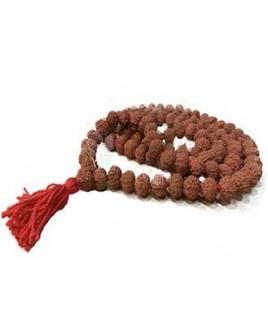 Natural 10 - Mukhi Rudraksha Rosary / Mala With Certificate- (MARUJ10-010)- (JAVA)