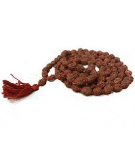 Natural 4 - Mukhi Rudraksha Rosary / Mala With Certificate (Java)- (MARUJ04-001)