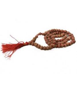 Natural 7 - Mukhi Rudraksha Rosary / Mala With Certificate (Java)- (MARUJ07-001)