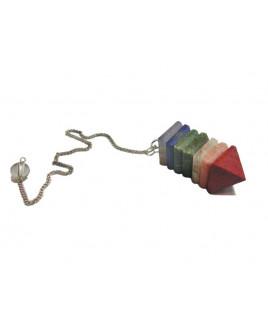 7 Chakra Healing Stone Pyramid Pendulum (HEHP-002)