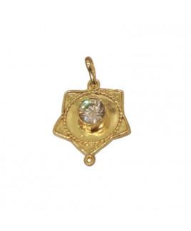 American Diamond Star Shaped Pendant (PEAD-001)