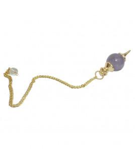 Amethyst Quartz Ball Dowsing Pendulum (VTBD-001)