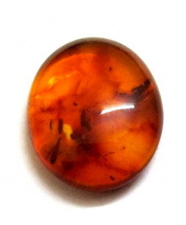 Natural Amber Oval Cabochon Gemstone  2.50 Carat (AR-05)