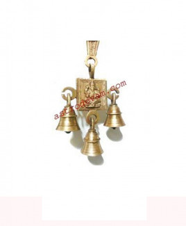 Auspicious Hanging Ganesha / Ganpati with Brass Bells - 250 gm (DIBHG-001)