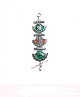 Auspicious Hanging Ganesha/ Ganpati in Silver Finish - 30 cm (DIAHG-001)