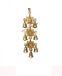 Auspicious Hanging Ganesha / Ganpati with Brass Bells - 600 gm (DIBHG-002)
