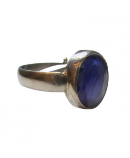 Blue Sapphire Ring In Silver- (BSR-007)