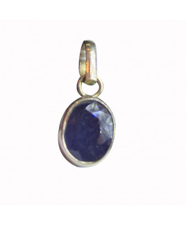 Blue Sapphire (Neelam ) Pendant -(BSP-007)