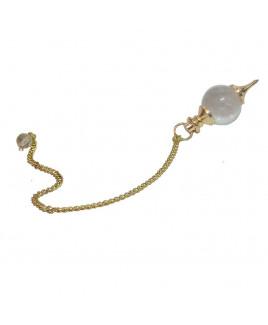 Crystal Quartz Ball Dowsing Pendulum (VTBD-003)