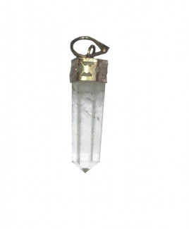 Crystal Quartz Pencil Pendant