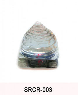 Crystal Sumeru Shree Yantra - 72 gm (SRCR-003)
