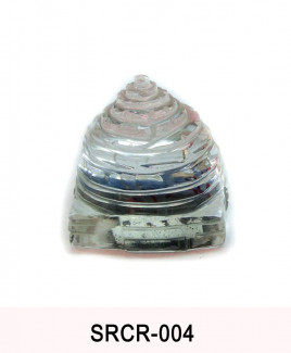 Crystal Sumeru Shree Yantra - 45 gm (SRCR-004)