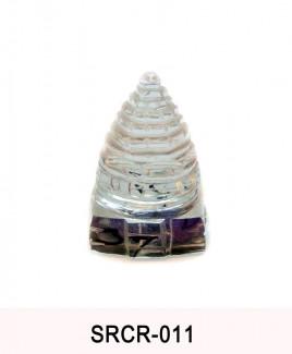 Crystal Sumeru Shree Yantra - 40 gm (SRCR-011)